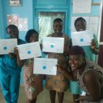 Some nurses display their certificate after having completed their QualityRights e-training